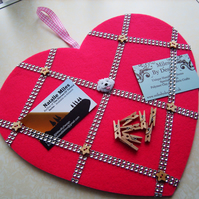 Heart Shaped Memo - Notice Board