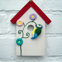 Bird-box Inspired Wooden Hanging