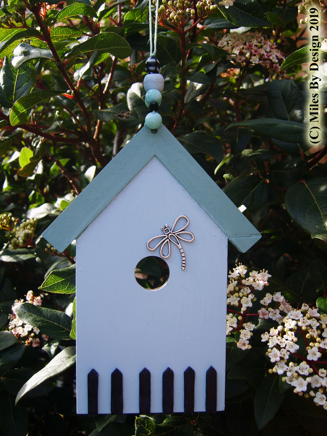 Flat Bird House Decorative Summer House or Conservatory Hanging