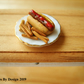 1:12 Scale Hot Dog and Chips Miniature for Dolls House