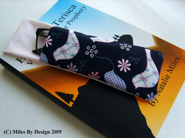 Bird Fabric Glasses Holder Bookmark