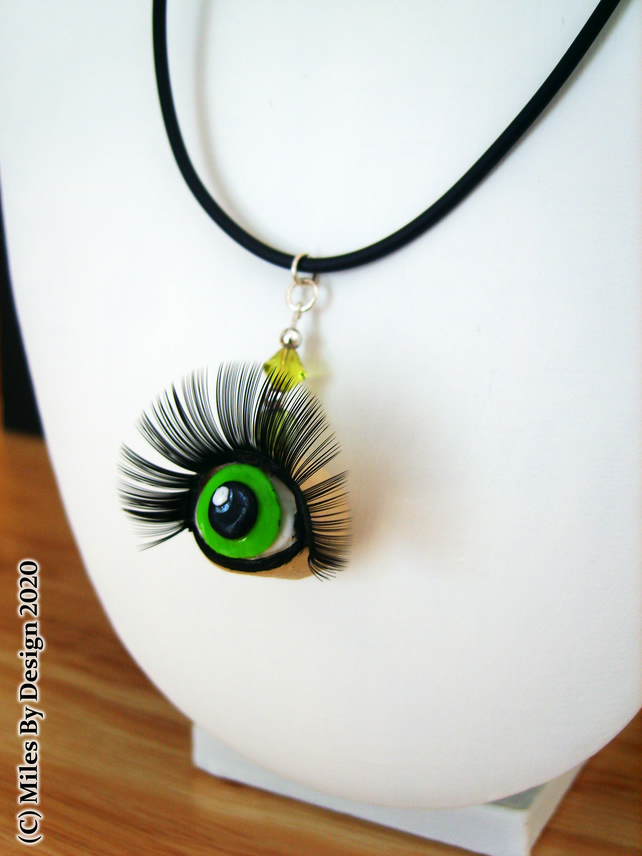 Unique Eye With Lashes Statement Necklace