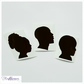 Vinyl Decal - Personalised Silhouette Portrait, Decals & Stickers, Supplies