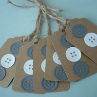 6 button gift tags