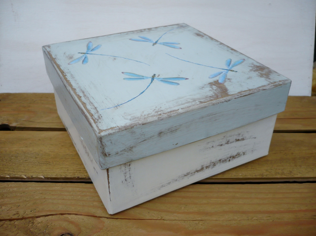 A gift box with dragonflies