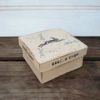 Gift or storage box with dragonflies & hare