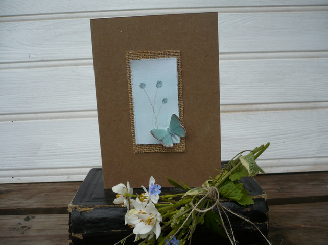 Alliums and butterfly card