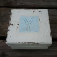 Hand painted lavender gift box