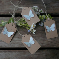 Green butterfly gift tags