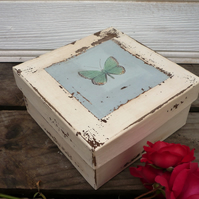A keepsake box with butterfly