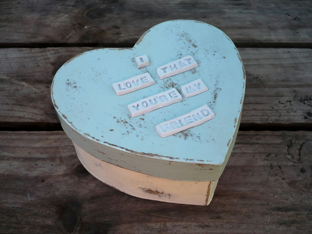 A heart shaped gift box
