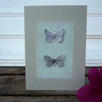 Greetings card with butterflies