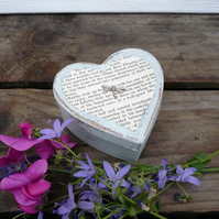 little heart shaped dragonfly box