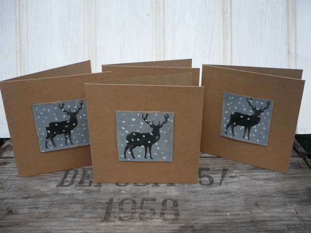 Christmas cards with stag