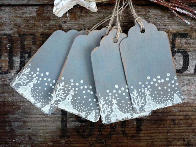 Hand made gift tags with embossing detail
