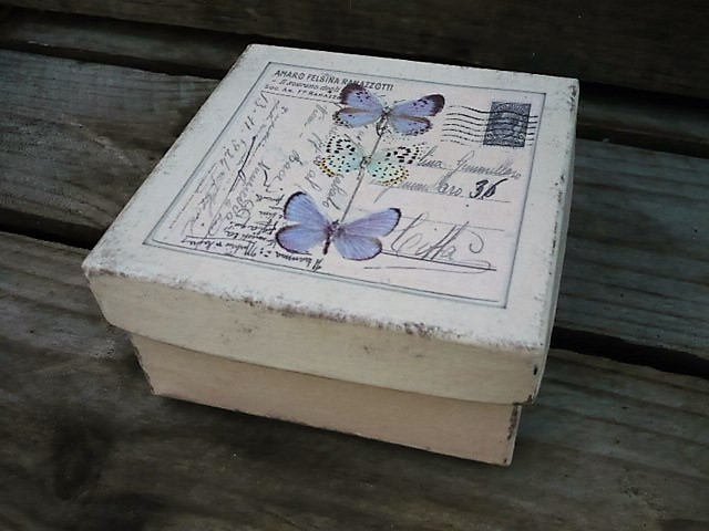 Keepsake box with butterflies