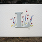 Personalised greetings card with initial and hand painted meadow scene