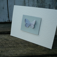 Greetings card with butterfly