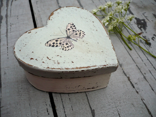 Heart shaped butterfly gift box