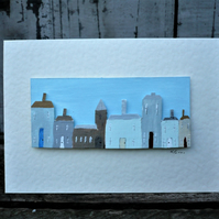 Hand painted greetings card