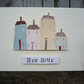 Hand made, hand painted greetings card for new home