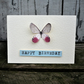 Greetings card with butterfly, birthday card