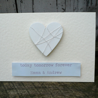 Personalised wedding or engagement greetings card