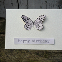 Butterfly birthday card