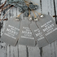 Grey and white christmas gift tags