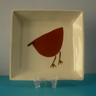 Ceramic Brown Bird Dish