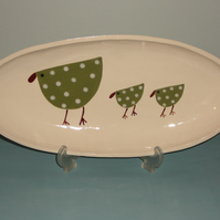 Ceramic Spotted Bird Dish
