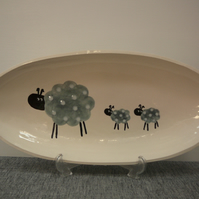 Ceramic Spotted Sheep Dish