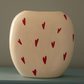 Ceramic Red Heart Vase