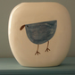 Ceramic Blue Bird Vase