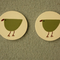 Pair of Ceramic Bird Coasters