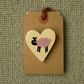 Ceramic Heart Brooch