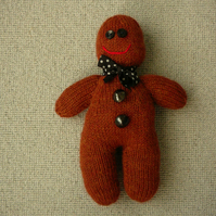 Hand Knitted Gingerbread Man