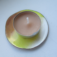 Small Enamelled Copper Night Light Holder - Free postage