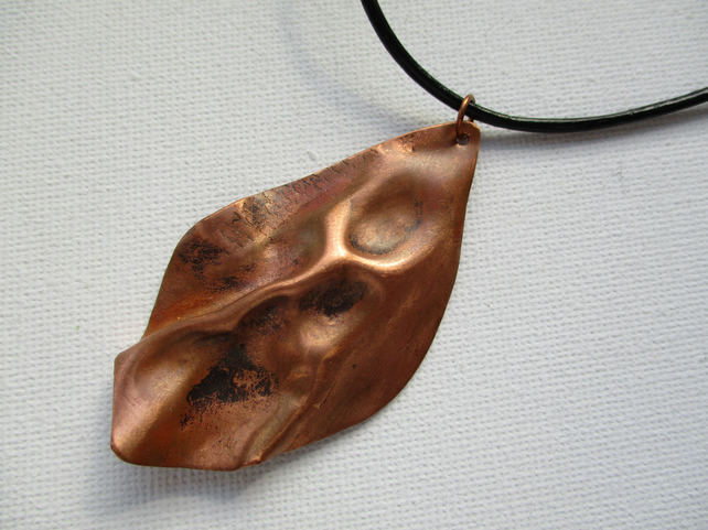 Hand Formed Copper Pendant - Free postage