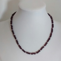 Garnet Necklace - Free Postage
