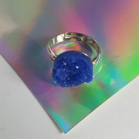 Resin Druzy Ring - Royal Blue