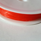 1 x 7m Roll Coloured Fibrewire Jewellery Elastic - 0.8mm - Red