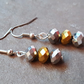 Metallic Glamour Trio Beaded Earrings