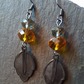 Golden Autumn Leaf Beaded Earrings