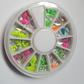 1 x Filled Storage Wheel - 6cm - Mixed Shaped Studs - Mixed Colour