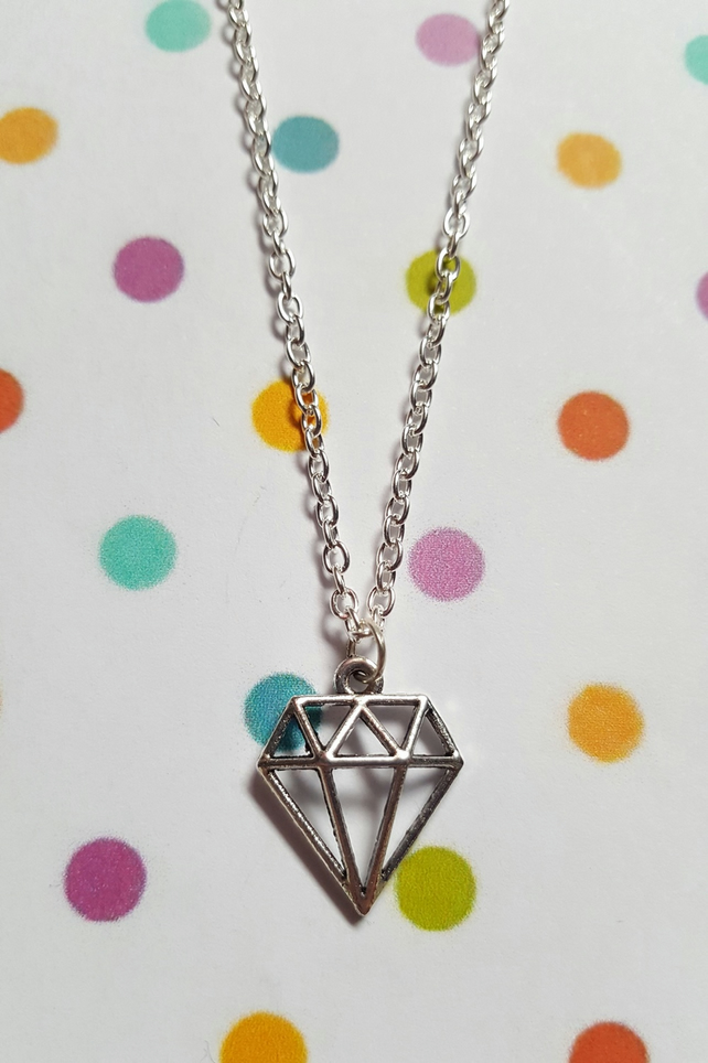 Diamond Gem Necklace (Chain)