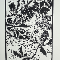 'Underneath the Trees' Linoprint