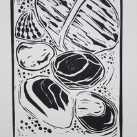 'Seaside Treasure' Linoprint