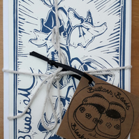 Bluebell Lino Printed Postcards, Set of 3 (Bundle 2)