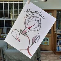Magnolia Greetings Card